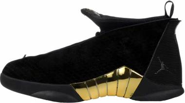 Air Jordan 15 Retro - Black White Metallic Gold