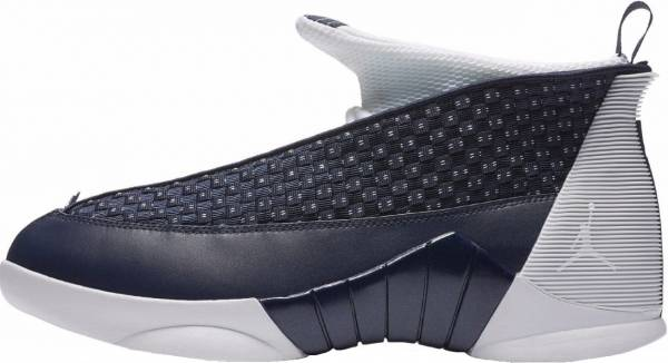 Air Jordan 15 Retro Obsidian, White-metallic Silver