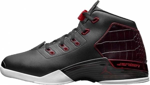check out e7321 27078 Air Jordan 17 Retro Black Gym Red-white