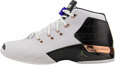 Air Jordan 17 Retro - white, metallic copper coin-black-sport blue (832816122)