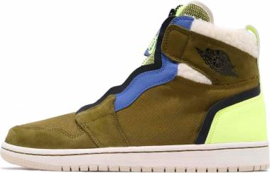 Air Jordan 1 High Zip - Olive Flak/Black-volt Glow (AV3723300)