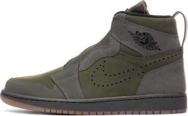 Air Jordan 1 High Zip - Multicolore (Olive Canvas/Black/Twilight Marsh 300)