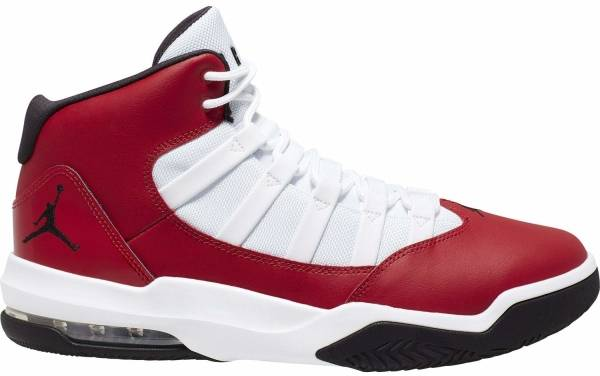 Jordan Max Aura - Blanco Rojo Gimnasio Negro (AQ9084602)