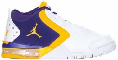 Jordan Big Fund - White University Gold Court Purple