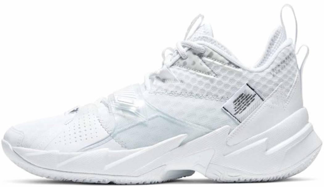 White Jordan Basketball Shoes