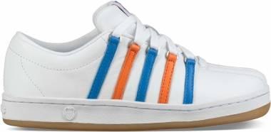 K-Swiss Classic 88 - White Directoire Blue Vibrant Orange
