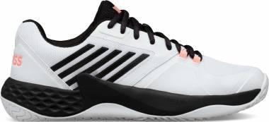 K-Swiss Aero Court  - White/Black/Soft Neon Orange