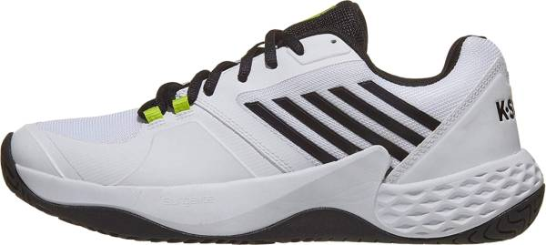 K-Swiss Aero Court  - White Black Neon Yellow