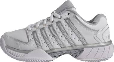 K-Swiss Hypercourt Express Leather - White White Silver Glcrgray 107 (93380107)