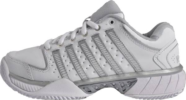 K-Swiss Hypercourt Express Leather - White White Silver Glcrgray 107