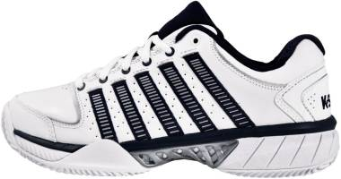 K-Swiss Hypercourt Express Leather - White Navy Silver