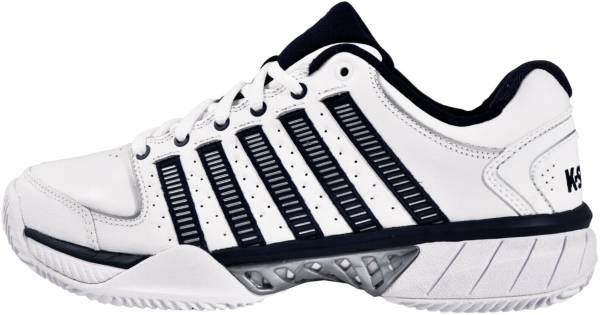 K-Swiss Hypercourt Express Leather - White/Navy/Silver (03379167)