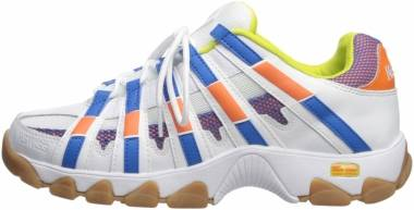 K-Swiss ST429 - White/Vibrant Orange/Directories Blue (03181154)