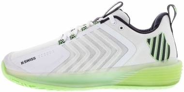 K-Swiss Ultrashot 3 - White/Soft Neon Green/Blue Graphite (06988191)