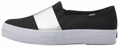 Keds Triple Bandeau Canvas - Black/Silver (WF58043)