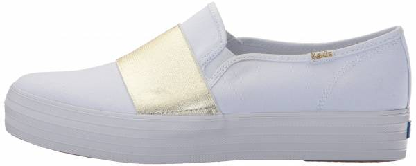 Keds Triple Bandeau Canvas - White/Gold (WF58044)