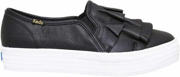 Keds Triple Ruffle Leather - Black (WH58990)