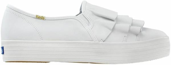 Keds Triple Ruffle Leather - White