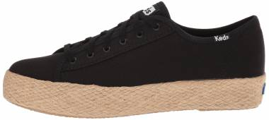 Keds Triple Kick Jute - Noir Black 90 (WF58069)