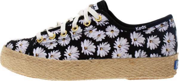 Keds Triple Kick Daisy Black Twill