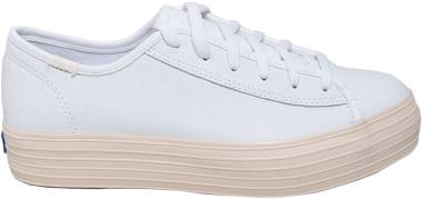 Keds Triple Kick Leather Glossy - White (WH58470)