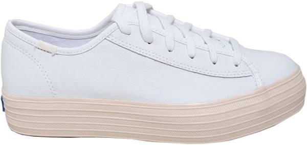 Keds Triple Kick Leather Glossy - White (WH58470)