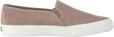 Keds Double Decker Perf Suede - Taupe (WH59055)