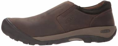 KEEN Austin Casual Slip-On - Chocolate Brown/Black Olive