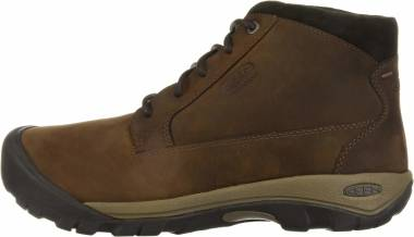 KEEN Austin Casual Waterproof Boot - Chocolate Brown Black Olive