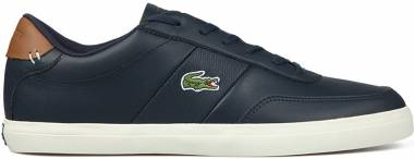 Lacoste Court-Master - Navy Brown Leather