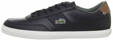 Lacoste Court-Master - Black/Brown Leather