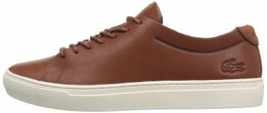 Lacoste L.12.12 Unlined Leather Trainers Brown Men