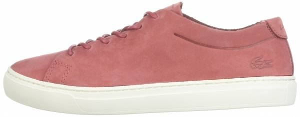 Lacoste L.12.12 Unlined Leather Trainers - Red (735CAW0018262)