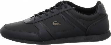 Lacoste Menerva Leather  - Black/Black Leather (736CAM005302H)