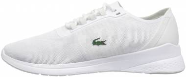 Lacoste LT Fit Textile Trainer - White/White (735SPW003821G)