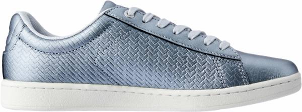 Lacoste Carnaby Evo Trainers - Silver (737SFA0017AAB)
