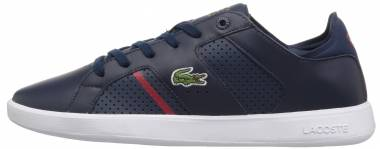 Lacoste Novas CT Leather Azul (Nvy/Red) Men