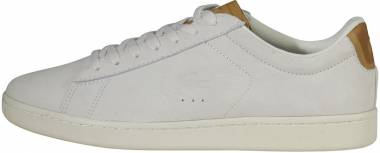 a551e3489 Lacoste Carnaby Evo Suede Off White Men
