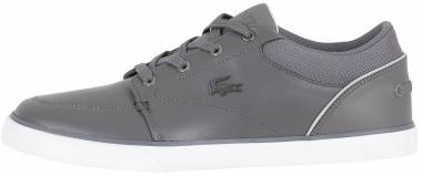 f807b0180 Lacoste Bayliss Leather Trainer Dark Grey Light Grey Men