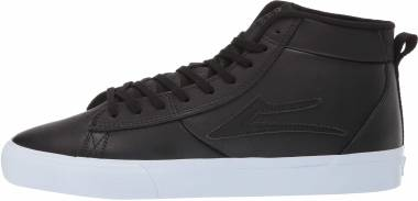 Lakai Newport Hi - Black Leather (3190253WHTES)