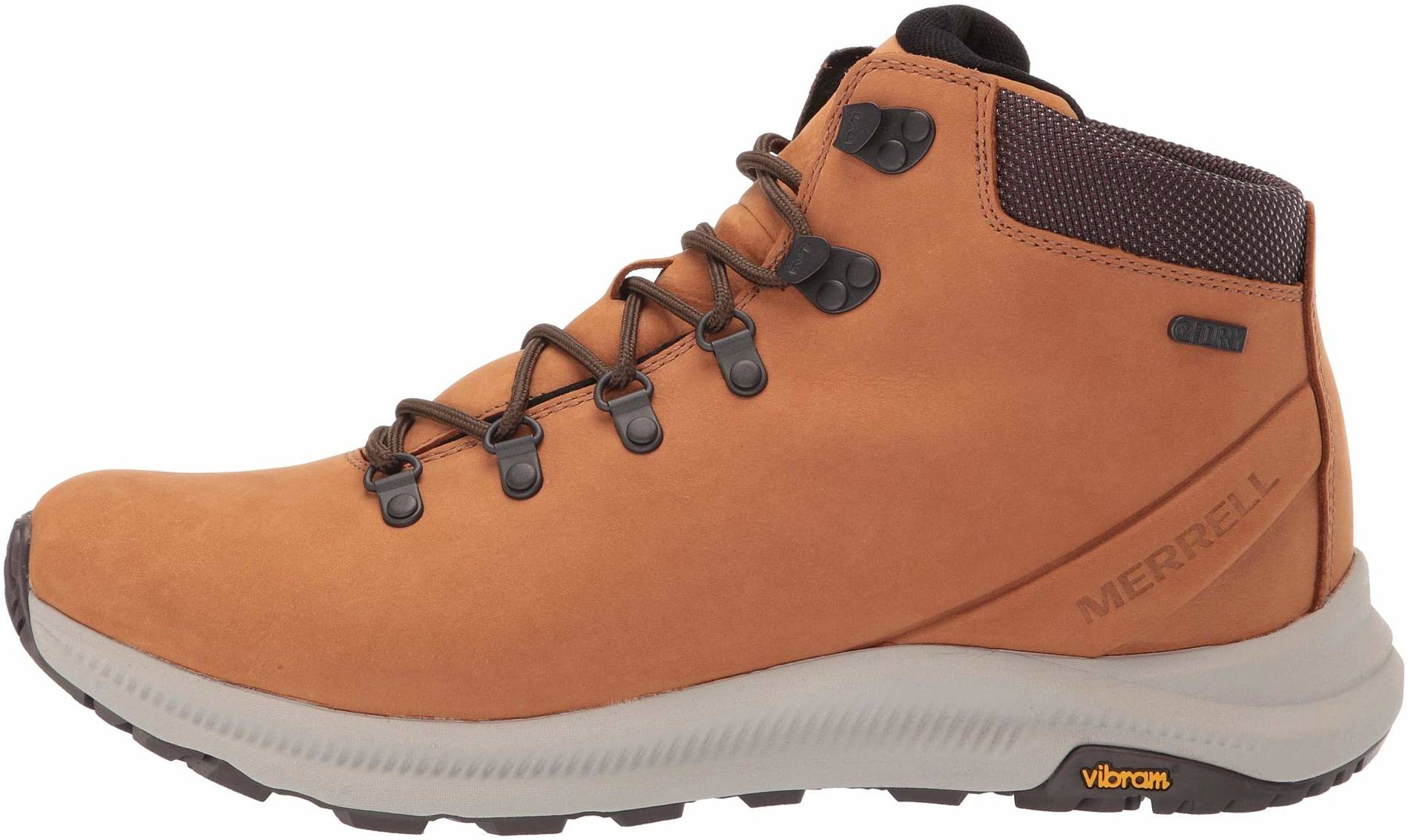 MM48 New Merrell Strongbound Mid WP Leather Trekking Hiking Boot Men 10 Brown