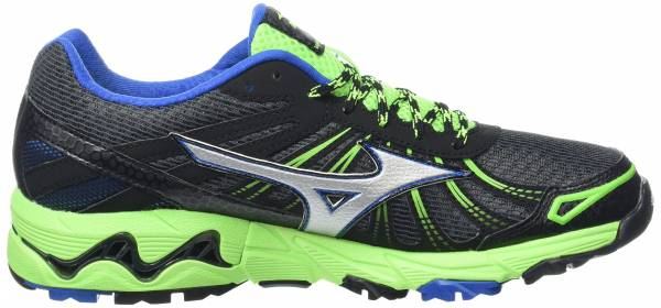 Mizuno Wave Mujin 3 - Black (Dark Shadow/Silver/Green Gecko)