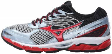 brand new 52a9d 7455f Mizuno Wave Paradox 3 Quarry High Risk Red Men