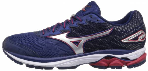 Mizuno Wave Rider 20 men blue depths/silver/chinese red