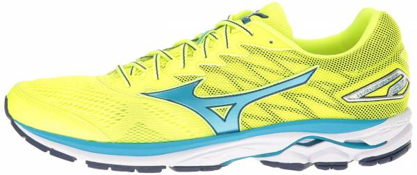 Mizuno Wave Rider 20 men safety yellow/atomic blue/blue depths