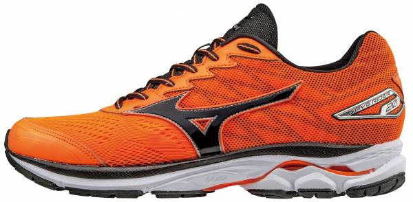 Mizuno Wave Rider 20 men clownfish/black/silver