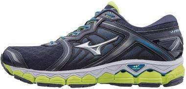 Mizuno Wave Sky - Peacoat/Silver/Safety Yellow (J1GC170203)