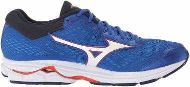 Mizuno Wave Rider 22 - Nautical Blue Cherry Tomato