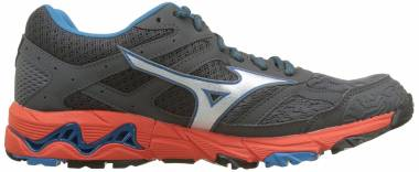 Mizuno Wave Mujin 5 GTX Dark Shadow / Silver / Cherry Tomato Men