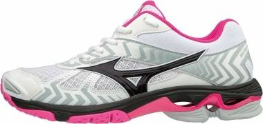 Mizuno Wave Bolt 7 - white - pink - black